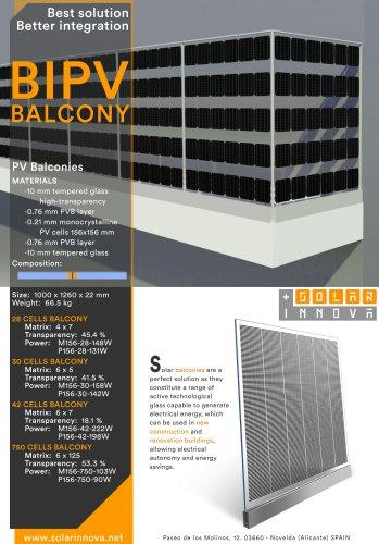 BIPV-Solar Photovoltaic Balconies