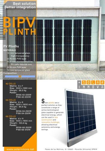 BIPV-Solar Photovoltaic Plinths