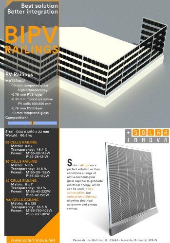 BIPV-Solar Photovoltaic Railings