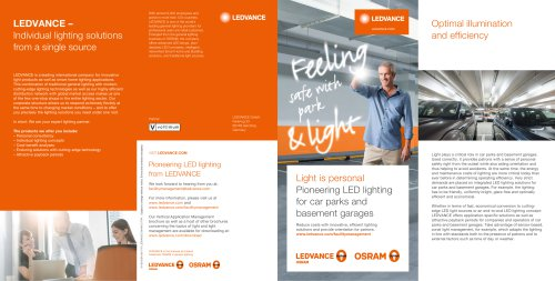 LEDVANCE – Individual lighting solutions from a single source