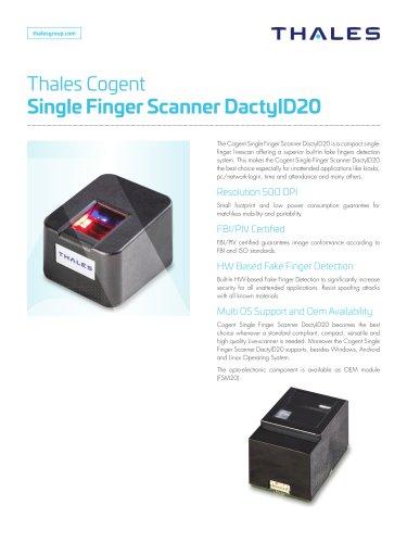 Kiosk Hardware - Thales Gemalto Single Finger Scanner DactyID20
