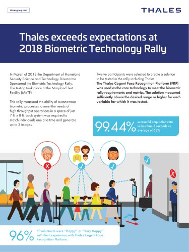 Thales exceeds expectations at 2018 Biometric Technology Rally