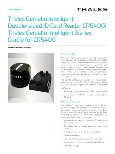 Thales Gemalto Intelligent Double-sided ID Card Reader CR5400i