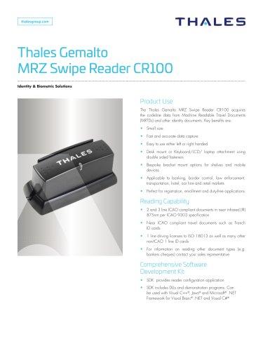 Thales Gemalto MRZ Swipe Reader CR100
