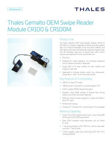 Thales Gemalto OEM Swipe Reader Module CR100 & CR100M