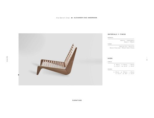 Ala Bench Chair