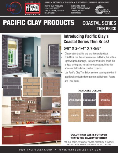 COASTAL SERIES THIN BRICK