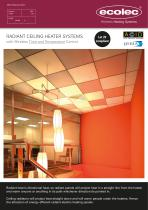 RADIANT CEILING HEATER SYSTEMS