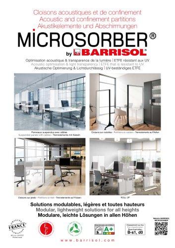 Akustikelemente und Abschirmungen MICROSORBER® by BARRISOL®