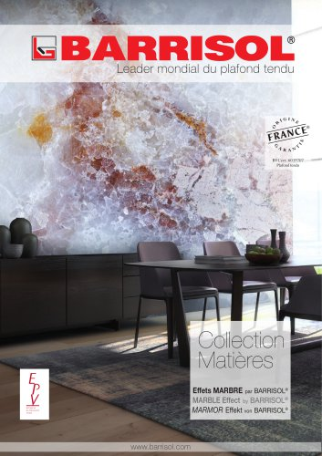Collection Matières Marmor Effekt by BARRISOL