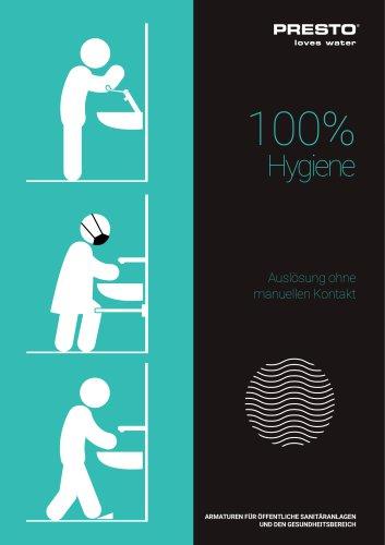 Auslösung ohne manuellen Kontakt - 100% Hygiene