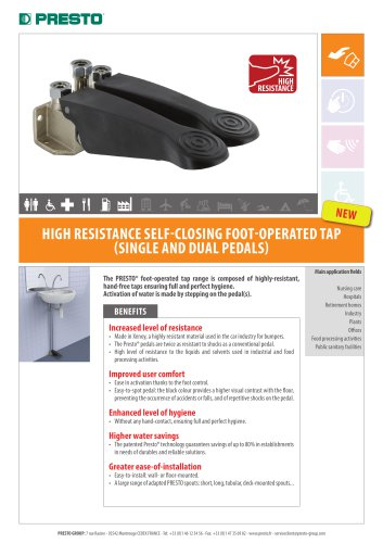 High resistance self-closing foot-operated ta