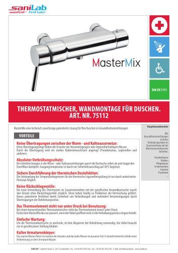 MasterMix Thermostatmisher Wandmontage für duschen