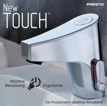 NEW TOUCH, die Produktreihe sensitiver Armaturen von PRESTO