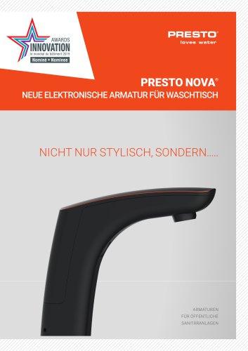 PRESTO NOVA® - neue elektronische Armatur
