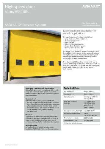 Albany HS8010PL high speed door