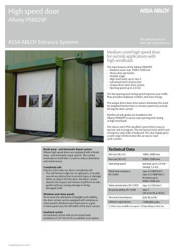 Albany HS8020P high speed door