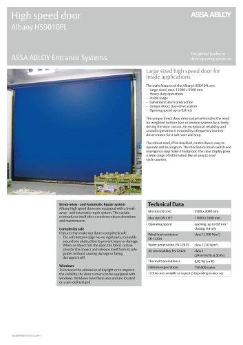 Albany HS9010PL high speed door
