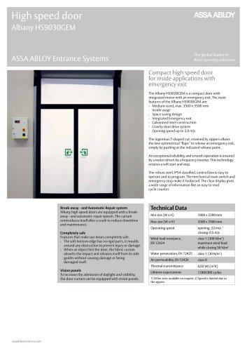Albany HS9030GEM high speed emergency exit door