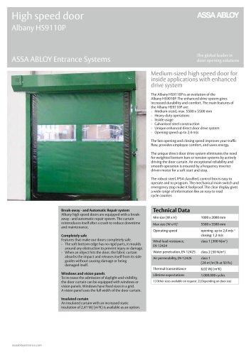 Albany HS9110P high speed door