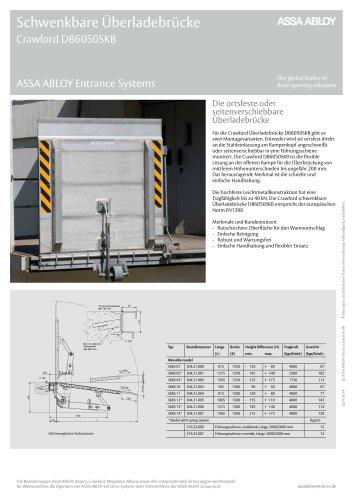 Crawford DB6050SKB drawbridge leveller