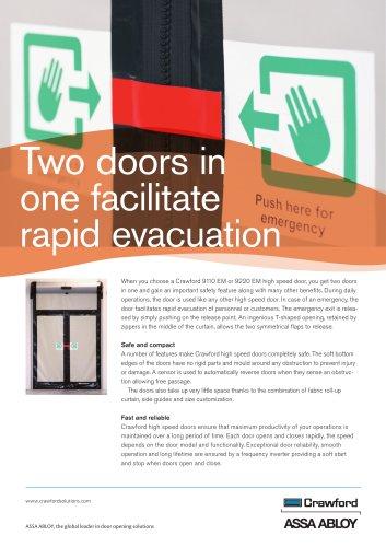 Crawford, High speed doors Emergency exit