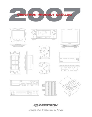 Complete Crestron Catalogue 2007