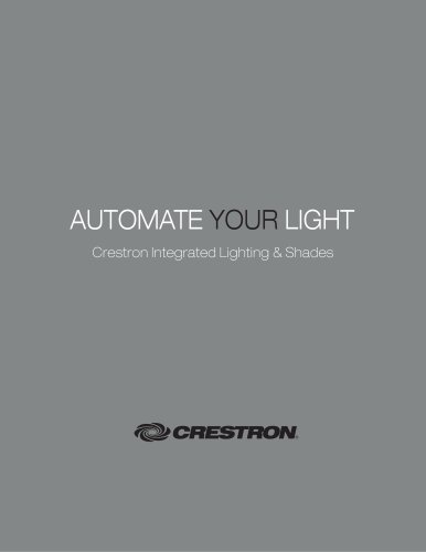 Crestron Integrated Lighting and Shading Control
