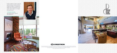 Crestron Interior Design Partner Program Brochure (Residential)