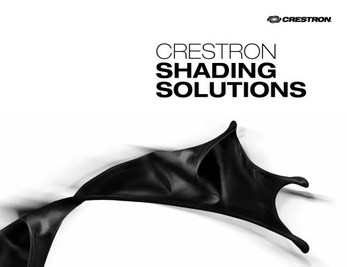 Crestron Shading Solutions