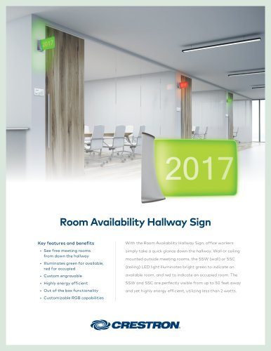 SSW Room Availability Hallway Sign