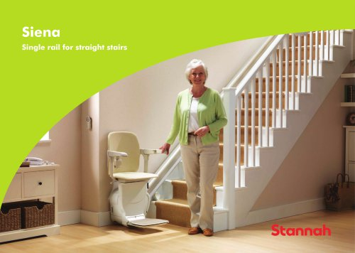 Siena - Single rail for straight stairs