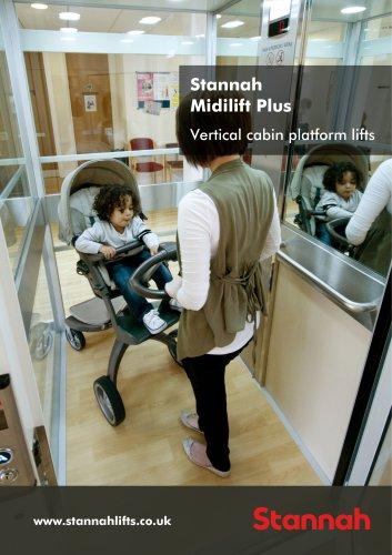 Stannah Midilift Plus Vertical cabin platform lifts