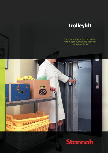 Trolleylift - The ideal answer to moving heavier loads of up to 500kg easily and safely over several floors