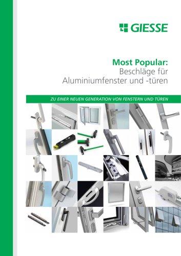 Most Popular: Beschläge für Aluminiumfenster und -türen