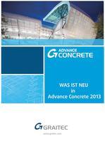 Was ist neu in Advance Concrete 2013
