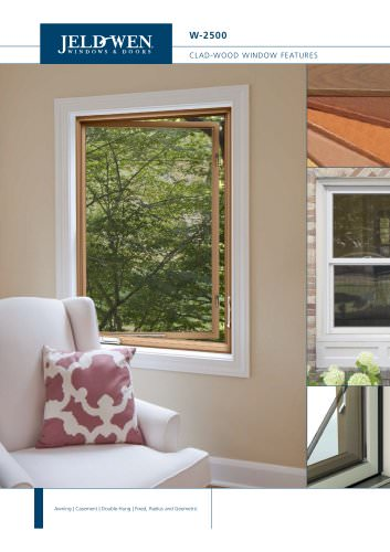 W-2500 Clad-Wood Windows