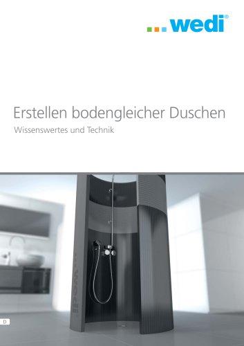 Erstellen bodengleicher Duschen - Wissenwertes und Technik