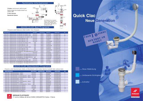 QUICK-CLAC ablaufgarnitur