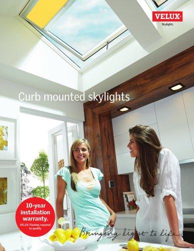 Curb mounted skylights