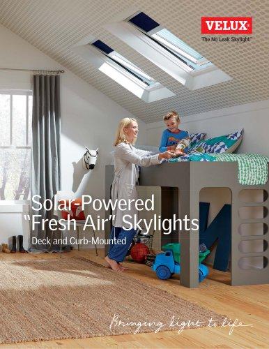 """Solar powered """"fresh air"""" Skylights"""