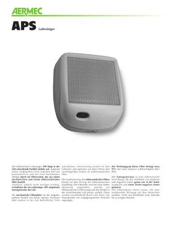 Datenblatt - Luftreiniger