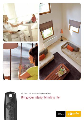Motorized blinds by somfy