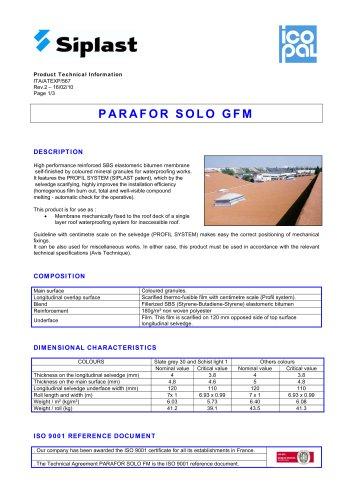 PARAFOR SOLO GFM
