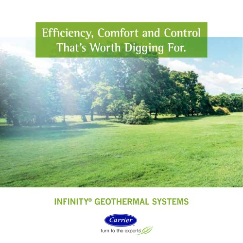 Carrier Geothermal Comfort Systems - Consumer Leaflet