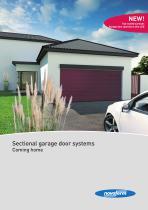 Sectional garage door systems