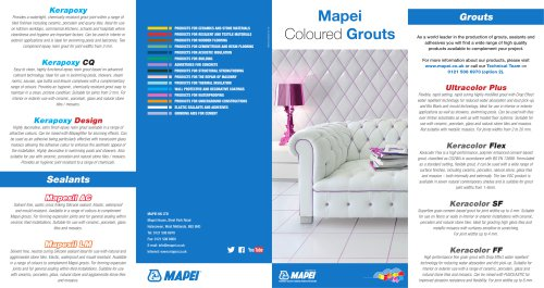 Mapei Coloured grouts