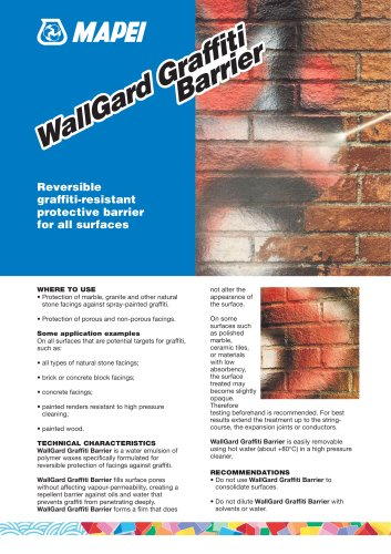 WallGard Graffiti BARRIER