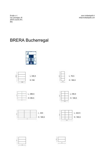 BRERA Bucherregal
