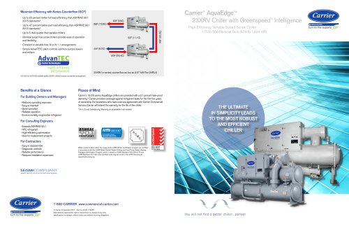 Carrier Aquaedge 23XRV Chiller with Greenspeed Intelligence